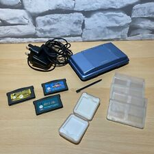 Blue Original Nintendo DS with Genuine Charger, Accessories and 3x Gameboy Games