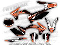 NitroMX Graphic Kit for KTM SX 125 250 2011 2012 Decals Motocross MX Stickers