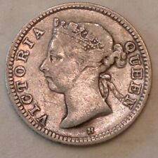 1891 H  Hong Kong  Victoria   Five 5 Cents