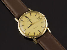 Omega Quartz (Battery) Genuine Leather Strap Round Watches