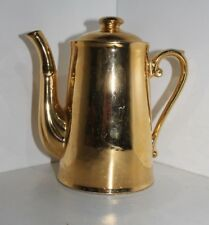 "ROYAL WORCESTER GOLD LUSTRE MINI COFFEE POT 17"" H SHAPE 3 SIZE 6"