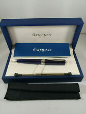 Waterman Exception Ballpoint Pen Slim Blue Lacquer with Silver Trim