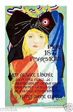 ALSACE FRANCE POSTER World War I Vintage Liberation Poster Fine Art Print