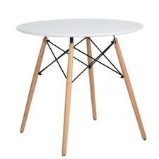 Table Scandinave pour Salle à Manger Surface Large avec Pieds en Vrai Bois Table