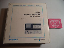HEWLETT PACKARD 8505A NETWORK ANALYZER VOL 3 OPERATING AND SERVICE MANUAL