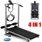 Folding Manual Treadmill Portable Running Home Fitness Walking Machine Sport`