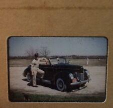 Vtg Auto Car Military Man Slide 1953 America Amateur Photo Slides Kodachrome 50s