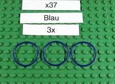 Gummiringe für LEGO-Blau-Blu-x37-Rubber Belt Medium Round Cross Section(3X3)-3X