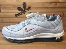 New Nike Air Max 98 sz 12 Summit White Silver Red Blue CD1538-100