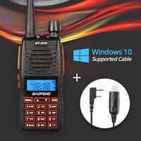 Baofeng GT-5TP VHF/UHF Dual Band 2000mAh Ham HP Two way Radio + Free Win10 Cable