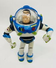 "Disney 2001 Hasbro Blue Buzz Lightyear Figure 11"" Interactive Buddies - WORKS -"