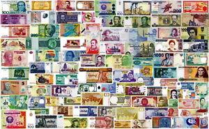 LOTTO Lot 100 banconote differenti (non le solite) FDS - UNC