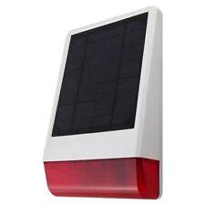 Outdoor Solar Sirene für Alarm System Alarmanlage Fenstersensor OSS-100