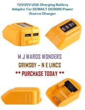 12V/20V USB Charging Battery Adapter For DEWALT DCB090 Power Source Charger