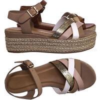 Infinity17 Espadrilles Wedge Platform Flat Sandal - Women Boho Strap Flatform