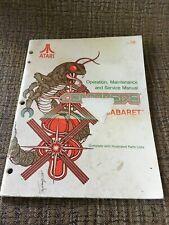 Centipede Cabaret NOS Operators Maintenance Service Manual ATARI 1980