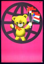 International Toy Exhibition 1967 Sandor Lengyel hongrois Poster