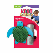 KONG TURTLE Refillable Catnip Wrestle Toy for Cats and Kittens (NT43)