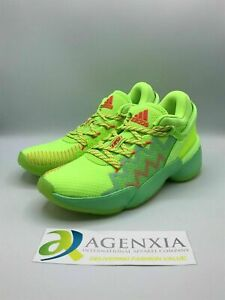 adidas Mens 8 DON Issue 2 Marvel Spidey Sense Green Sneakers Shoes New FU7385