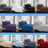 QUEEN SHEET SET 1800 Count 4Pcs Bed Sheet Set Deep Pocket Fitted Flat Sheets G3