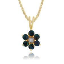 Collares y colgantes de joyería con gemas azul diamante