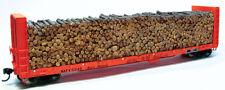 Chooch Enterprises HO Scale Pulpwood Load for Walthers Canadian Bulkhead Flatcar