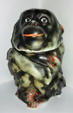 Rare Old Vintage / Antique Ape Baboon Monkey Figural Tobacco Jar with Lid