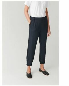 COS Navy elastic waist and cuff trouser size EUR 36 - New with Tag