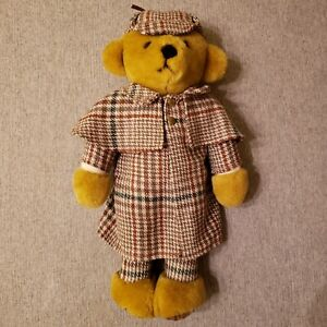 Merrythought Sherlock Holmes Mohair Bear 16 inch (41cm's) - Ex. Condition