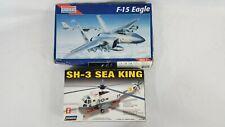 1995 Monogram F-15 Eagle 1:48 with Lindberg 1:72 SH-3 Sea King