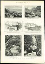 1889 Antiguo visita real de impresión Gales Barmouth obstinadamente penmaenpool (312)