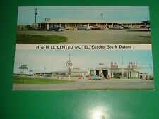 ZU012 Vntage Multi-View PC H & H Centro Motel Kadoka S.D. Texaco Service Station