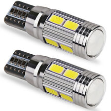 2x 501 194 6000K W5W 5630 T10 LED 10-SMD Car Canbus Error Free Wedge Light Bulbs