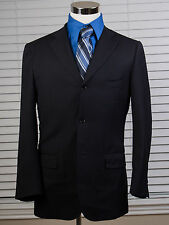 Men's ISAIA NAPOLI Black 120s Pinstripe 3 Button Blazer Sz US 40 EU 50