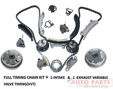 2 CAM PHASER 1-INTAKE & 1-EXHAUST+ TIMING SET for CHEVROLE GMC 3.0L 3.6L 2008-UP