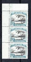 New Zealand - Niue 1944-46 4d Captain Cook MNH marginal vertical strip of 3