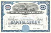 Phelps Dodge Corporation > mining stock certificate