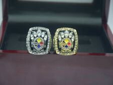 2 Pcs Ring 2005 2005 Pittsburgh Steelers World Championship Ring //