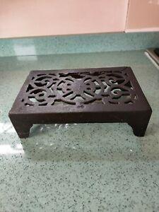 Antique Cast Iron Trivet- Solid piece