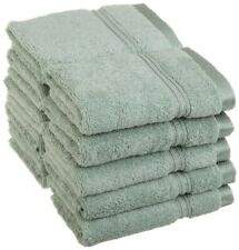 10-Pc Sage Green Superior Long Staple Cotton Face Washcloth Set 600 Gsm 1-Ply