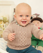 Knitting Pattern -Baby/Toddler/Infant Cable jumper (9 sizes) P0108