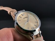 NEW OLD STOCK FOSSIL ES-2830 WATER RESISTANT 5 ATM SS QUARTZ WOMEN'S WATCH