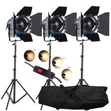 FSKIT300B 900W 3×300W Movie Fresnel Tungsten Spotlight Lighting Studio Barndoor