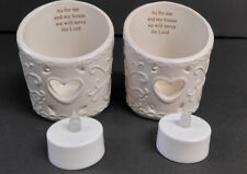 Candle Holders with Battery Powered Votive Candles Set New