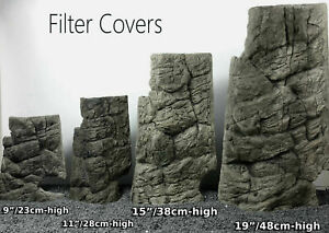 FILTER OR HEATER COVER MATCHES BACKGROUND FISH TANK DECORATION 3D ROCK STONE