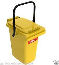 SULO Abfalltonne Mülleimer Abfalleimer Restmüll Kompost Tonne 25 Liter gelb NEU.