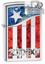 Zippo 29095 us flag fusion Lighter with PIPE INSERT PL