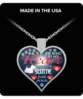 Scottie dog,Scottish Terrier,Aberdeenie dog,Scotties,Gift,Heart Pendant Necklace