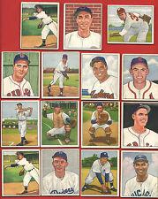 1950   BOWMAN  BASEBALL   *LOT  OF  31  CARDS*    ALL  NICE   NO  CREASES   !!