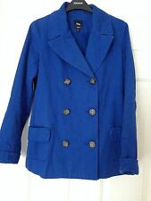 Gap Hip Length Cotton Patternless Coats & Jackets for Women